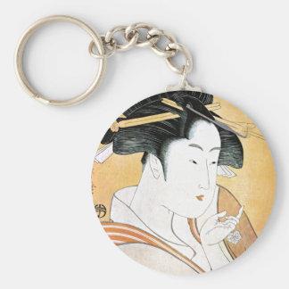 Geisha oriental fresco de Classei del japonés Llaveros Personalizados