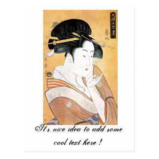 Geisha oriental fresco de Classei del japonés Tarjeta Postal