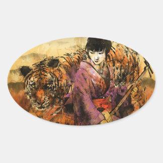Geisha Oval Sticker