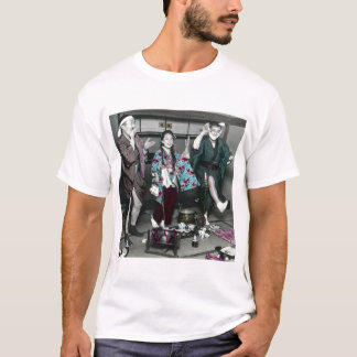 Geisha Party Time in Old Japan Vintage Japanese T-Shirt