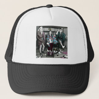 Geisha Party Time in Old Japan Vintage Japanese Trucker Hat