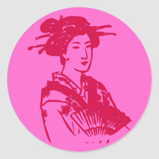Geisha Pegatinas Redondas