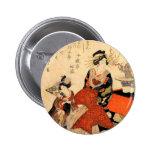 Geisha Pin Redondo De 2 Pulgadas