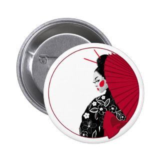 Geisha Pinback Button