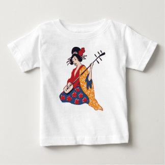 Geisha Playing A Shamisen Baby T-Shirt