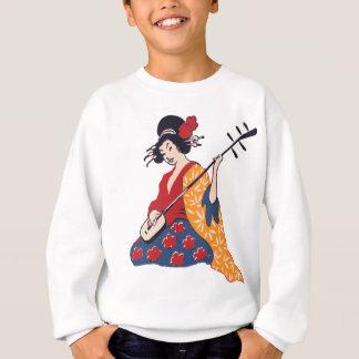 Geisha Playing A Shamisen Sweatshirt
