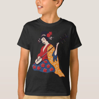 Geisha Playing A Shamisen T-Shirt