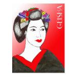 GEISHA POST CARD