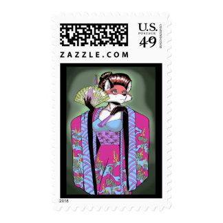 Geisha Postage Stamp