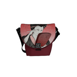 Geisha purse with mirror messenger bag