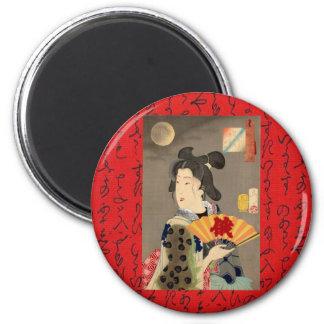 Geisha rojo iman de frigorífico