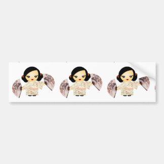 Geisha Rose Bumper Sticker
