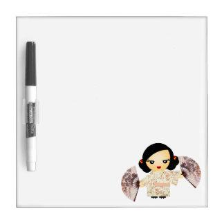 Geisha Rose Dry Erase Whiteboards