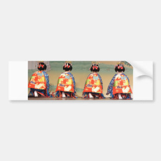 Geisha Row Bumper Sticker