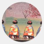 Geisha Row Classic Round Sticker