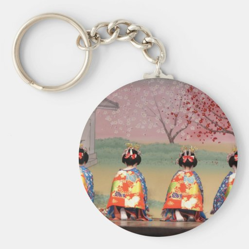 Geisha Row Key Chain