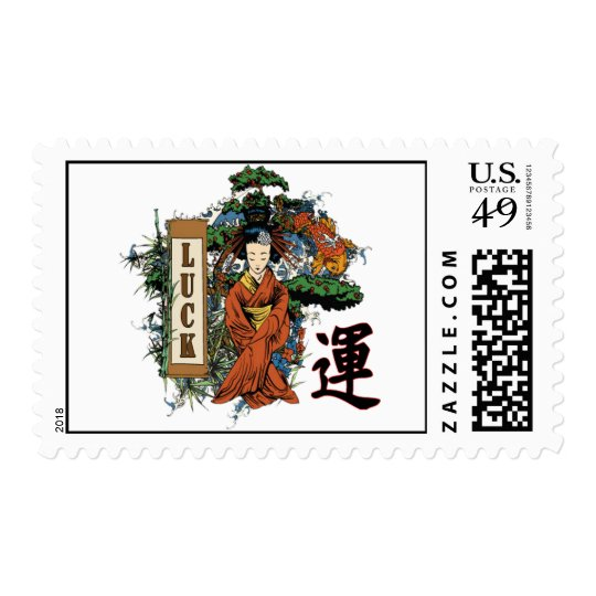 Geisha Scroll Postage