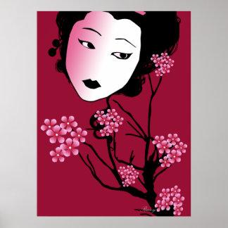 Geisha-Sherry Blossom Poster