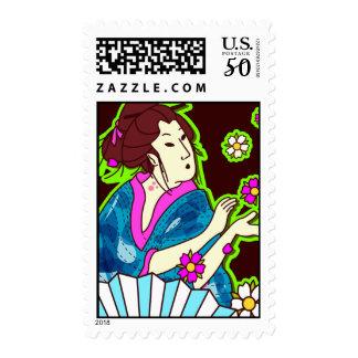 geisha stamp