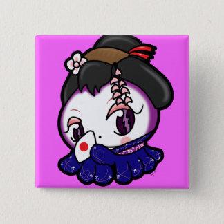 Geisha Tako-Chan Button