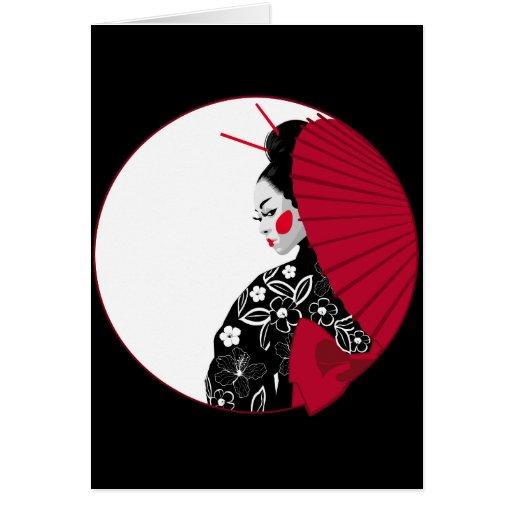 Geisha Tarjeta De Felicitación