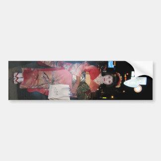Geisha Tokio nea de Asakusa Pegatina De Parachoque