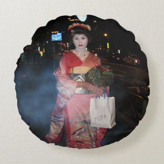 Geisha Tokio nea de Asakusa Cojín Redondo