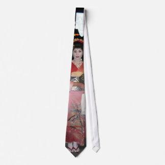 Geisha Tokio nea de Asakusa Corbatas Personalizadas