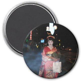 Geisha Tokio nea de Asakusa Imán Redondo 7 Cm