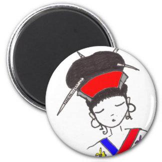 Geisha Trans 2 Inch Round Magnet