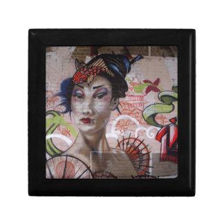 Geisha Urban Graffiti Street Art Gift Box