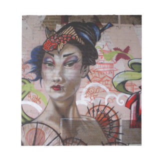 Geisha Urban Graffiti Street Art Memo Pads