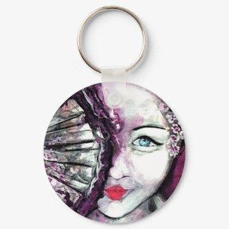 Geisha _ Water in her Soul Keychain keychain