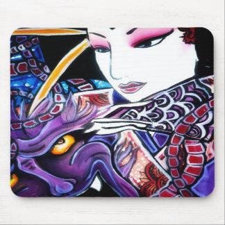 geisha with demon mouse pads