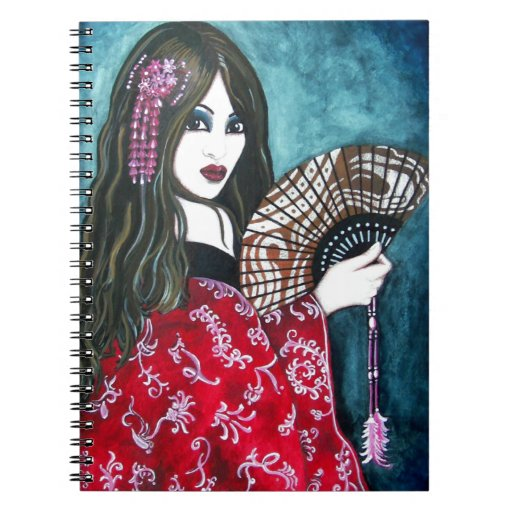 Geisha with Fan Journals