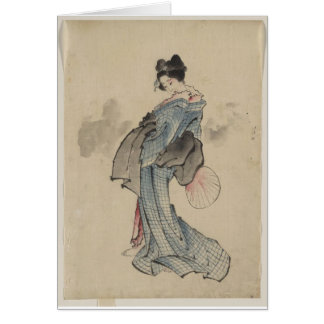 Geisha Woman Card