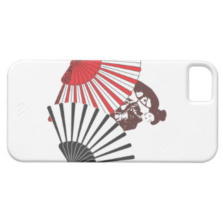 Geisha y fans iPhone 5 carcasas