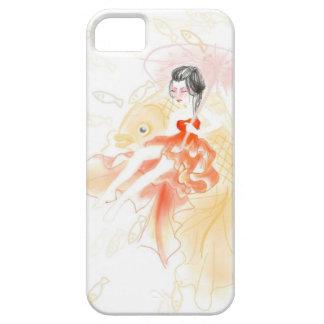 Geisha y la cubierta del teléfono del Goldfish iPhone 5 Funda