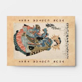 Geisha y niño japoneses clásicos del ukiyo-e del v