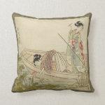 Geisha's Boating Pillow Cushion