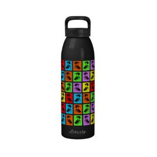 Geishas del estallido botella de agua