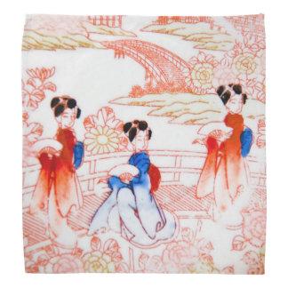 Geishas en jardín bandana