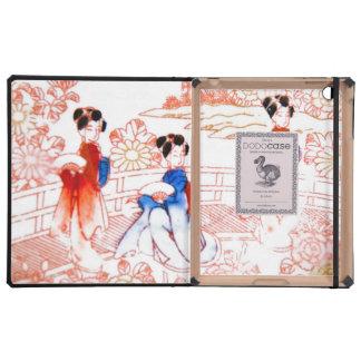 Geishas en jardín iPad cobertura