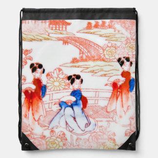 Geishas en jardín mochila