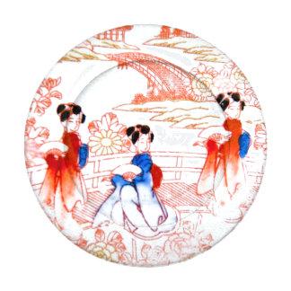 Geishas en jardín paquete pequeño de tapabotones