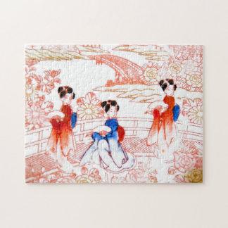Geishas en jardín puzzles