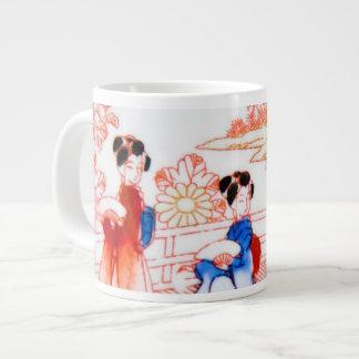 Geishas en jardín taza grande