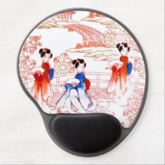 Geishas in garden gel mousepad