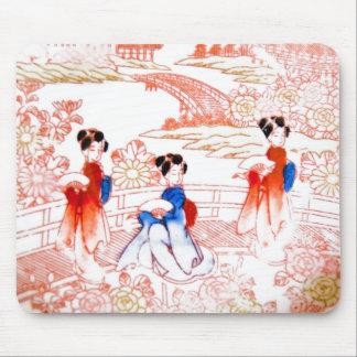 Geishas in garden mousepads
