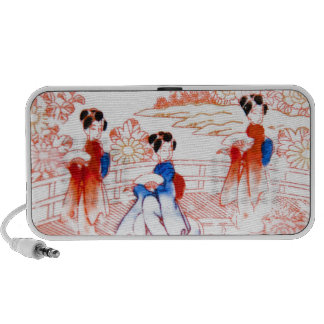 Geishas in garden laptop speakers